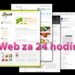 Vaša webstránka do 24 hodín!