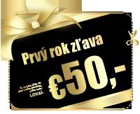 Ušetrite €50,-. Hosting a doména prvý rok zdarma!